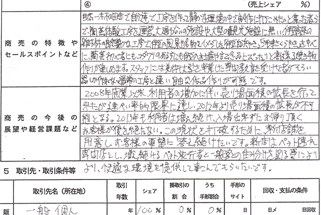 企業概要書 日本政策金融公庫 商工会議所